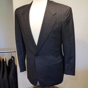 Canali Charcoal Gray Chalk Stripe Suit 38S 30x30